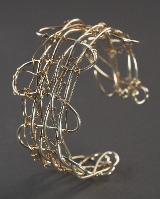 Cuff, Sterling Silver & 14 Kt Gold Filled