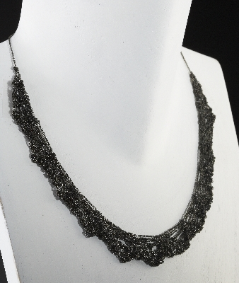 Oxidized Lace Necklace